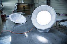 """Concrete Lamp """"Point de suspension"""" Design: Matali Crasset"""
