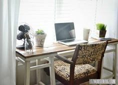 Long gone are the days when desks were reserved for the classroom or the office. Even if you don't work from home, chances are you have a computer there—and need a place to conduct business (or check in on various Facebook, Pinterest, and Instagram accounts). So as we welcome desks into our homes, why not make them an extension of our personal styles?<br/>  <br> There's no better way to meet your personal home office requirements than to build your own desk. DIY desk ...