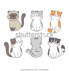 Find Draw Vector Character Design Collection Cat stock images in HD and millions of other royalty-free stock photos, illustrations and vectors in the Shutterstock collection. Cat Doodle, Doodle Cartoon, Cartoon Dog, Draw Vector, Easy Doodles Drawings, Cat Cookies, Cute Cartoon Images, Cat Stands, Painting Art