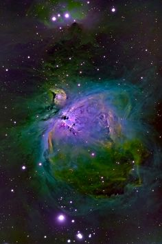 Orion's Sword nebular complex in emission line false-color. By notveryleet: Orion's Sword nebular complex in emission line false-color. Carl Sagan Cosmos, Hubble Space Telescope, Space And Astronomy, Orion Nebula, Across The Universe, Dark Matter, To Infinity And Beyond, Deep Space, Space Exploration