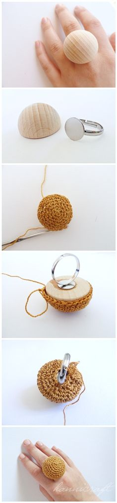 Crocheted rings {how-to}