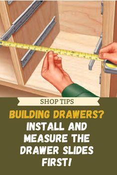 Woodworking Tools, Hardware, DIY Project Supplies & Plans - Rockler Here's a trick that can save you headaches when installing slides: mount the hardware before you even build the drawers. Woodworking Books, Woodworking Supplies, Woodworking Workbench, Easy Woodworking Projects, Popular Woodworking, Woodworking Furniture, Wood Projects, Workbench Plans, Workbench Designs