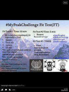 My Peak Challenge Fit Test