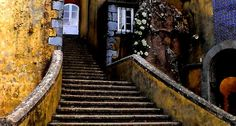 Steps into the past at the Pena Palace #Sintra #Portugal