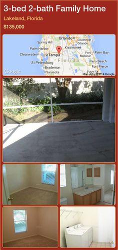 3-bed 2-bath Family Home in Lakeland, Florida ►$135,000 #PropertyForSaleFlorida http://florida-magic.com/properties/67218-family-home-for-sale-in-lakeland-florida-with-3-bedroom-2-bathroom