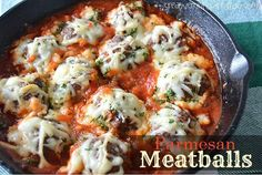 Tonight's dinner is Mouthwatering Parmesan Meatballs, simmered in Ragu pasta sauce, sprinkled with Parmesan Cheese and loaded with creamy mozzarella cheese.