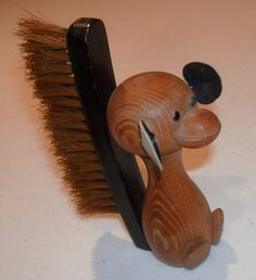 Mid Century Danish Mod TEAK WOOD SQUIRREL by BrownsRetroFUNHouse