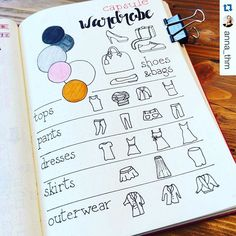 How adorable is this #capsulewardrobe page from @anna_thm? I'm pretty sure I…