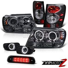 99-03 Jeep Grand Cherokee WJ 4WD Third Brake Light Fog Lamps Tail Headlamps Euro