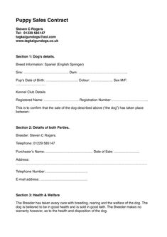 Puppy Sales Contract Template Fresh Free 25 Sales Contract Templates In Docs Whelping Puppies, Whelping Box, Dog Birth, New Puppy Checklist, Dog Kennel Designs, Purchase Contract, Dogs For Sale, Puppy Care, Working Dogs