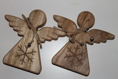 Handmade Wooden Angel Decoration by TheBlankDesigns on Etsy