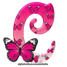 Alphabets by Monica Michielin: ALFABETO BORBOLETA ROSA, PINK BUTTERFLY ALPHABET Alphabet Letters Design, Animal Alphabet, Alphabet And Numbers, Letter Art, Butterfly Wallpaper, Pink Butterfly, Butterflies, Alphabet Wallpaper, Birthday Letters