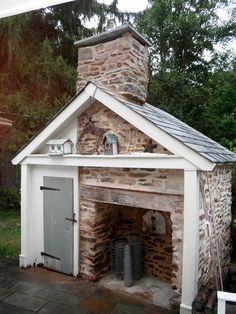 Restored historic smokehouse Home&HearthMasonry, via Flickr