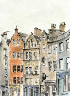 Victoria Street, Edinburgh.  This is totally beautifully--structures, colors, all of it.