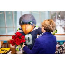 So COOL! Blitz from the Seahawks delivers valentines. Friday, Feb. 14 Delivery