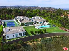 Situated on a ridge overlooking both Beverly Hills and Studio City, Gwen Stefani's property is verdant with perfectly manicured lawns and gardens.