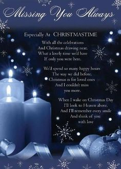 This is so sweet and perfect for those of us who are missing loved ones at Christmas (or any other time of the year).
