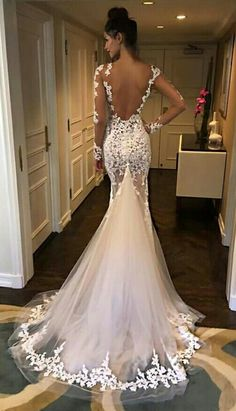 Open Back Lace Mermaid Wedding Dresses - Wedding - # Bridal Dresses . - Open Back Lace Mermaid Wedding Dresses – Wedding – # - Lace Mermaid Wedding Dress, Mermaid Dresses, Dream Wedding Dresses, Bridal Dresses, Wedding Gowns, Lace Dress, Prom Dresses, Tulle Dress, Wedding Lace