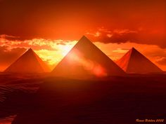Pyramids bathed in the light of the setting sun! Dukes trading can transport good from Cape Point to Egypt if necessary. http://www.dukestrading.co.za/