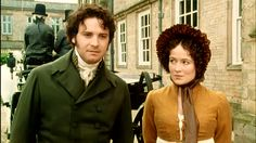 'Pride and Prejudice' - Colin Firth as Mr Darcy, Jennifer Ehle as Lizzie Bennet Mr Darcy And Elizabeth, Elizabeth Bennet, Bbc, Jennifer Ehle, Jane Austen Novels, Colin Firth, Chant, Pride And Prejudice, Movie Tv