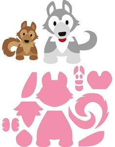 Marianne Design Collectable Dies - Eline's Husky Located in the large die bin Paper Piecing Patterns, Felt Patterns, Applique Templates, Applique Patterns, Foam Crafts, Paper Crafts, Dog Cards, Dog Pattern, Marianne Design