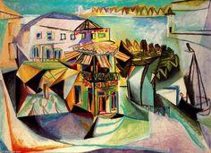 Café de Royan, öl von Pablo Picasso (1881-1973, Spain)