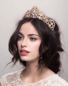 Maria Elena Headpieces 9006-A Crown (Light Ivory Medallions) – Maria Elena Headpieces AU – Shop