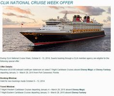 Disney Cruise Line - book soon for EXTRA on board credits!
