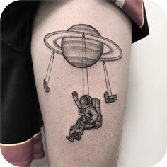 "15 mil curtidas, 50 comentários - Tattoodo (@tattoodo) no Instagram: ""Space cowboy  @_mfox - Italy #TATTOODO"""