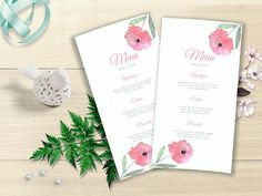 Your place to buy and sell all things handmade Printable Menu, Printable Wedding Invitations, Wedding Invitation Suite, Wedding Stationery, Invitation Templates, Watercolor Wedding, Floral Watercolor, Love Design, Floral Design