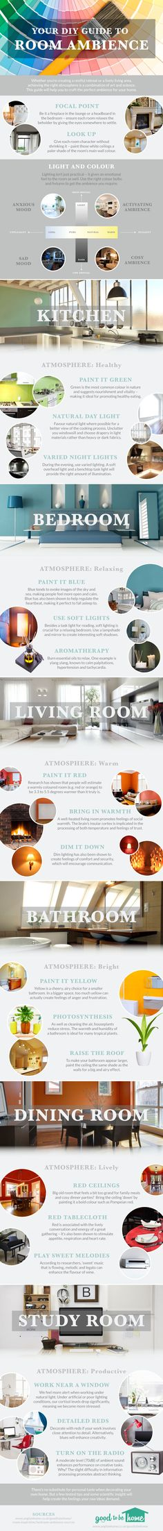 Your DIY Guide to Room Ambience #infographic #Home #HomeImprovement #DIY #infografía