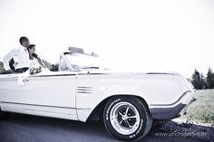 Brautauto weißer Cadillac