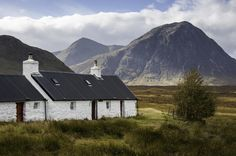 White cottage at Glencoe, Scotland byKeartona