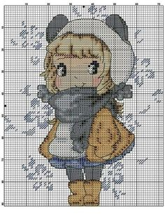 """cute Crochet 476044623105128249 - Pour les dames """"d'en haut"""" ! Cross Stitch Needles, Cute Cross Stitch, Cross Stitch Kits, Counted Cross Stitch Patterns, Cross Stitch Charts, Cross Stitch Designs, Cross Stitch Embroidery, Embroidery Patterns, Hand Embroidery"""