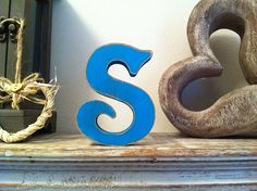 Freestanding Wooden Wedding Letter 'S'  20cm  by LoveLettersMe, £8.95