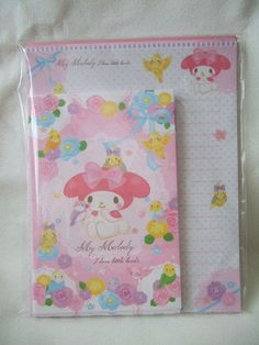 Sanrio My Melody stationary letter set kamio rose bird pink