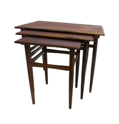 Danish Mid-Century Modern Rosewood Nesting Tables |  Chairish$675