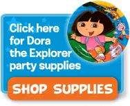 "Dora the Explorer Theme Kids Birthday Party Planning Ideas, Activities and Invitations from Birthdays""R""Us"