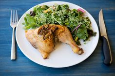 30 minute roasted chicken recipe with goat cheese! Delicious and perfect for summer nights.