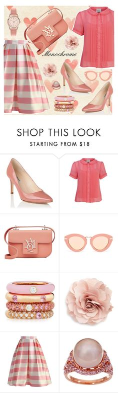 """Candy cane"" by paperdolldesigner ❤ liked on Polyvore featuring L.K.Bennett, Alexander McQueen, Karen Walker, Adolfo Courrier, Cara, Chicwish, Honora and Henry London"