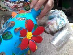Finalizando vaso PET - Flor - YouTube
