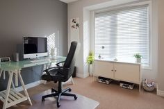 Gray Office - nice contrast between the light and dark gray