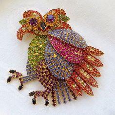 Kirks Folly Nicodemus Owl Brooch