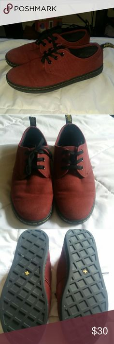 Dr martens Used Maroon shoes in good condition. Will except reasonable offers Dr. Martens Shoes Sneakers