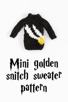 Mini Golden Snitch Sweater Pattern by Hands Occupied, made with Lion Brand Bonbons. Happy Birthday Harry Potter!
