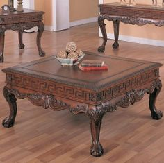 Ball and Claw Design Coffee Table by Coaster Home Furnishings. $396.64. mahogany coffee table. furniture coffee table. coffee tables. coffee table. antique coffee table. COFFEE TABLE features a warm medium brown finish with Beautiful carvings. # 5099. Save 53% Off!