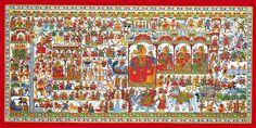 Kalyan Joshi - Ram lala ki phad @ Phad Chitra : Soul of Rajasthan Phad Painting, Painting Art, Fine Arts College, Royal Art, Asian Art Museum, Indian Folk Art, Local Hero, Popular Art, Indian Paintings