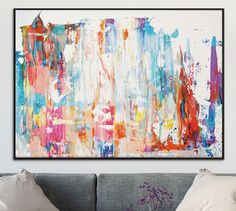 Large Abstract painting, Printable Abstract Art, Digital Downloads, colours, modern wall art, hand painted acrylic print, A1 and A0 size by DanHobdayArt on Etsy https://www.etsy.com/uk/listing/466743379/large-abstract-painting-printable