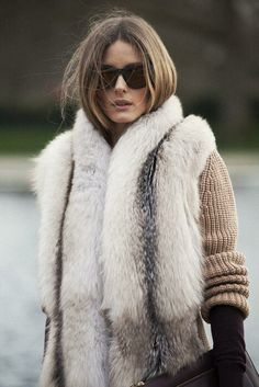 love her style Olivia Palermo Fur Fashion, Look Fashion, Olivia Palermo Stil, Estilo Cool, Quoi Porter, Mein Style, Winter Stil, Winter Mode, Business Outfit