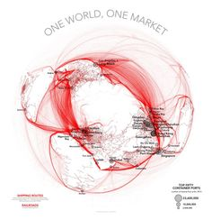 - One World One Market: shipping routes and railways.Source and...